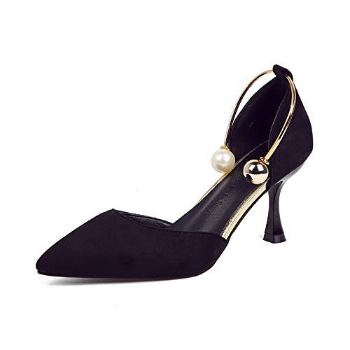 Yukun de zapatos Otoño Zapatos Tacones Aguja Poco Profundos De tacón Tacones Princesa Altos Black De Aguja Tacones alto qrr5SRd