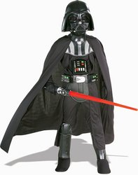 Scary Darth Vader Kids Costumes (Deluxe Darth Vader Costume - Medium)
