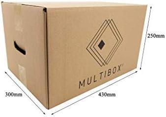 Pack 20 Cajas Cartón Mudanza y Almacenaje Con Asas Reforzado ...