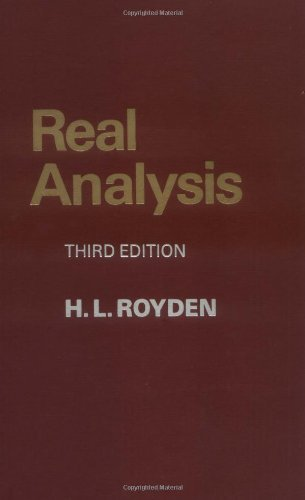By Halsey Royden - Real Analysis: 3rd (third) Edition