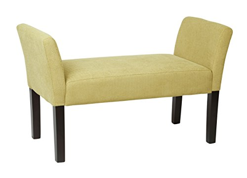 AVE SIX Kelsey Bench with Espresso Finish Solid Tapered Wood