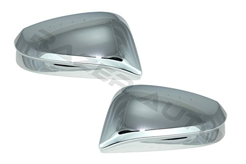 Razer Auto Chrome Mirror Cover for Without Turn Signal, 1 pair for 2014-2015 Toyota 4Runner, 2014-2015 Toyota Highlander ()