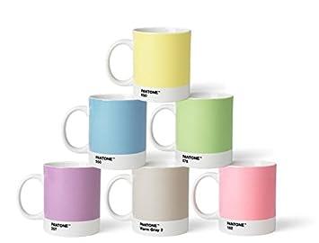 Pantone Tassen amazon de pantone kaffeebecher set porzellan pastell 8 4 x 8 4 x