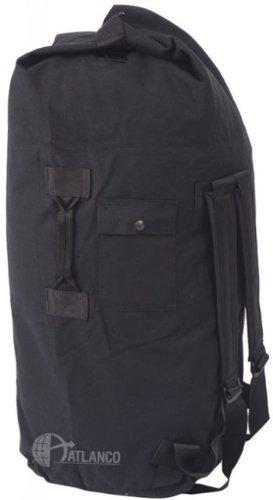 5ive Star Gear GI Spec Double Strap Duffel Bag, Black