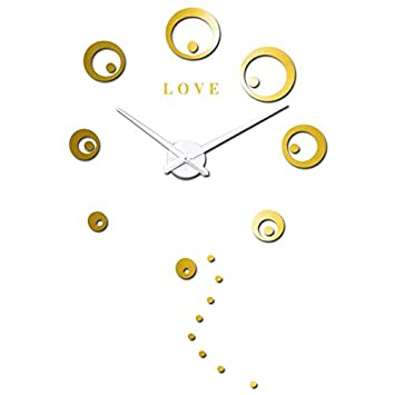 Djkaa Cartas de Amor Círculos Puntos Reloj de Pared Grande ...