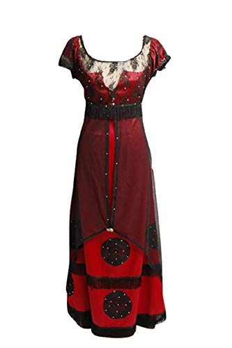 Cosplaybar Womens Deluxe Rose Jump Victorian Dress Outfit Halloween Cosplay Costume S]()