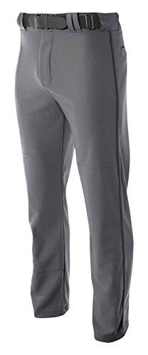 A4 Mens Pro-Style Open Bottom Baseball Pant, Large, Graphite (Pro Style Baseball Jersey)
