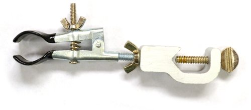 Eisco Labs Burette/Test Tube Clamp, PVC Coated Round Jaws, Opens up to 45mm in (Test Tube Clamp)