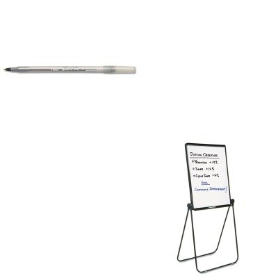 KITBICGSM11BKQRT101EL - Value Kit - Quartet Ultima Presentation Dry Erase Easel (QRT101EL) and BIC Round Stic Ballpoint Stick Pen (BICGSM11BK)
