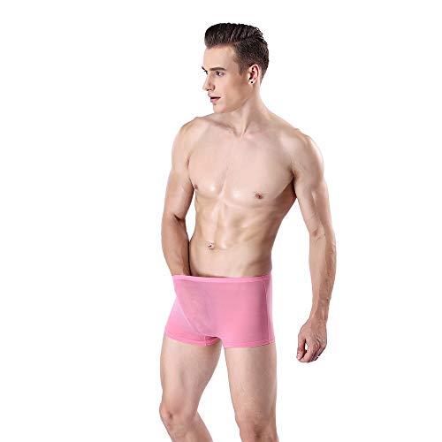 bicchierini borsellino intimo sexy rosa da uomo Shorts Yesmile per slip Boxer uomo boxer bauli rigonfiamento nqx4H1B