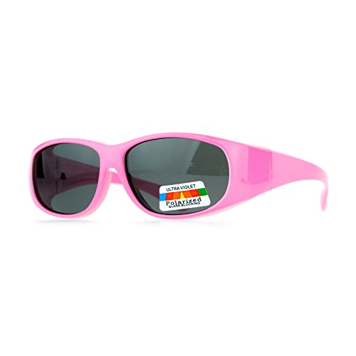 SA106 Polarized Kids Size 48mm Fit Over Sunglasses Pink