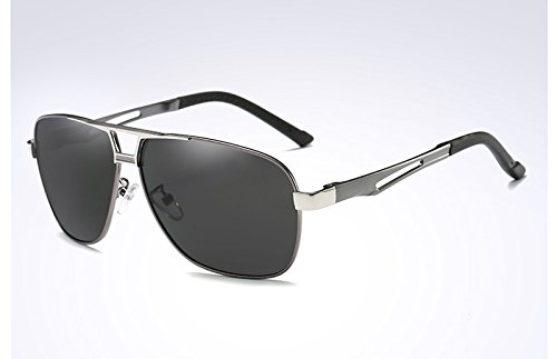 gris sol hombre negro Sunglasses gray de gafas black de Gafas UV400 polarizadas sol gafas TL TqIHP