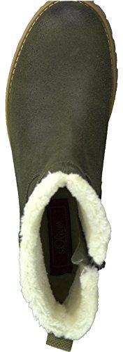 s.Oliver 5-5-26463-29 Modischer Damen Stiefel, Winterstiefel, warm gefüttert, 4cm Absatz, seitlicher Reißverschluss Corn