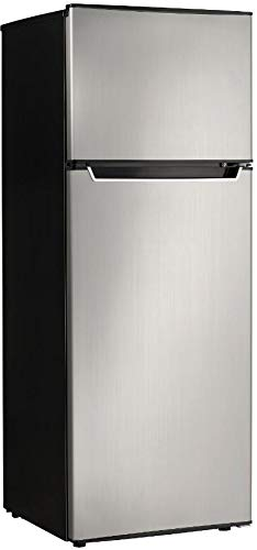 Danby Energy Star 7.3-Cu. Ft. Apartment Size Refrigerator with Top-Mount Freezer in Spotless Steel/Black