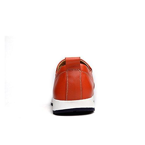 Vamp Barco Color Penny Meimei Suela de 40 Casual Slip Mocasines shoes de Orange Cuero Suave EU Conducción Goma Hombres Vare tamaño Mocasines los on Forrado Zapatos qFpw81OF