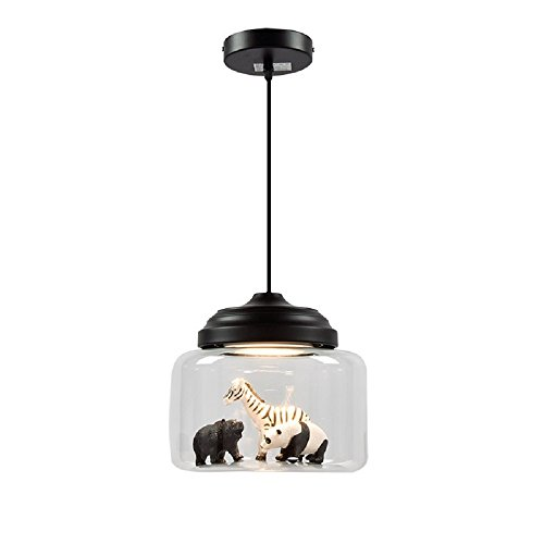 LgoodL Nordic Glass Chandelier Creative Animal Model Pendent Light Cafe Bar Table Bedroom Light Fixtures(White) by LgoodL
