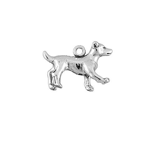 Sterling Silver 3D Dog Charm Jack Russell Terrier Item (Jack Russell Terrier Charm)