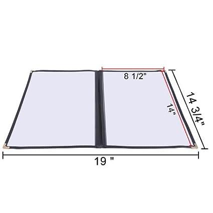 30pcs 8-1//2x14 Clear Restaurant Menu Cover Folder Double