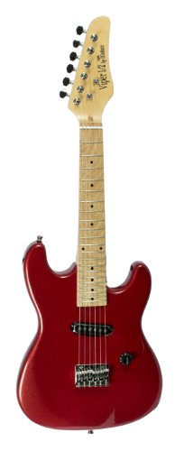 1/2 SIZE Viper for Kids- 32'' Half Size Electric Guitar- Metallic RED by De Rosa
