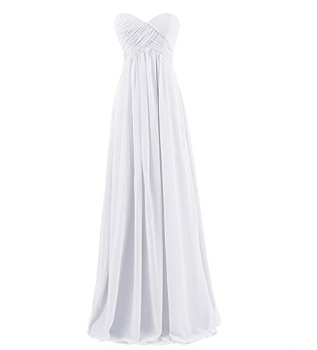 Kleider Partykleider La Jugendweihe Elegant Kleider Marie Damen Festliche Braut Weiß Lang Abendkleider RYYEzqU