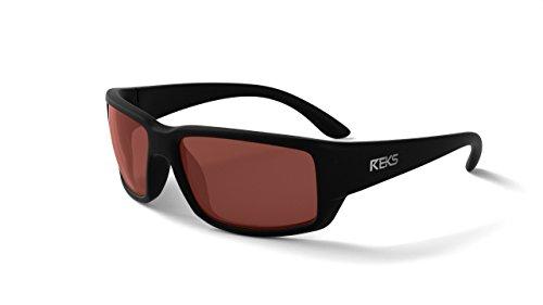 REKS Unbreakable WRAP AROUND Sunglasses (NEW 2018 Model) (Polarized, Rose Amber)
