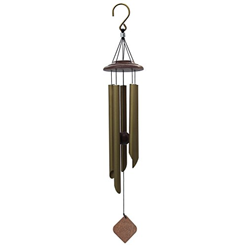 Wind Chimes Outdoor Deep Tone, Memorial Wind Chimes with Amazing Grace Sound, Sympathy Chimes with 5 Metal Tubes, Bronze Wind Chime for Garden, Balcony, Patio and Home Decor, Tuned Wind Chimes (26'') by Astarin