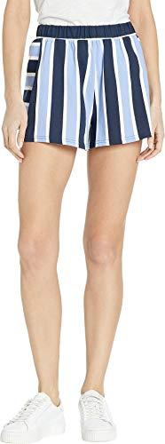 Zip Juicy Couture (Juicy Couture Women's Striped Flirty Shorts Regal/Beach Blue Sunset Medium 3)