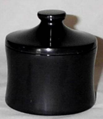 Decorative Black Marble Container Jar with Lid - 5 Inch Tall