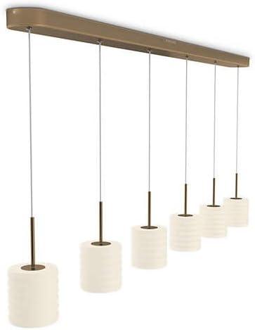 Philips 373080616 Lampe suspendue, Metal, Verre, 4.5 W, Bronze, Blanc