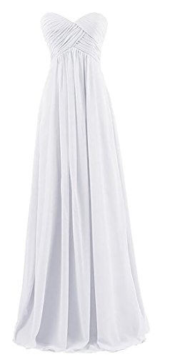 Prom Long Strapless Dress White Women Alion Elegant Bridesmaid Gowns Formal wxZY7Hnq