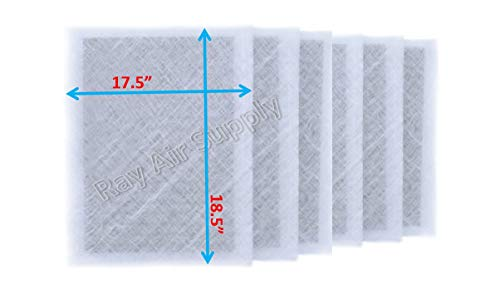 RAYAIR SUPPLY 20x20x2 Dynamic P2000 Air Cleaner Replacement Filter Pads 20×20 Refills White (6 Pack)
