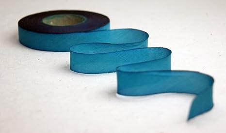 Teal Silk Ribbon Teal Silk velvet Ribbon Teal Velvet Ribbons Handy Dyed Silk Ribbon