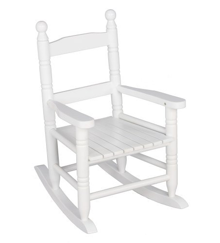 Jack-Post KN-10W Classic Child's Porch Rocker White (Rocker Porch Teak)