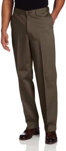 Savane Men's Big & Tall Flat Front No-Iron Performance Chino Pant