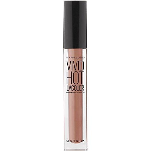 Maybelline Color Sensational Vivid Hot Lacquer Lip Gloss, Tease, 0.17 fl. (Lip Lacquer Gloss)