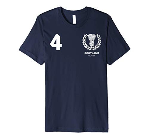 (Scotland Scottish Rugby Jersey T-Shirt)