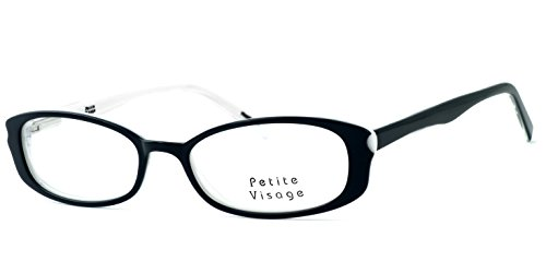 Petite by Visage Eyewear Womens Designer Eyeglasses 102 in Tuxedo ; DEMO - Petite Glasses Designer