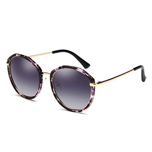 Soleil Petite F Rond couleur Purple Visage Pour Femme Rue Polarisées De Taille Lunettes Odshy Noir TqEwff