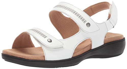 Trotters Women's Venice Sandal, White, 9.5 M US