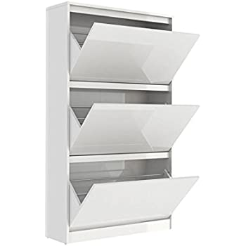 Amazon.com: 4D Concepts Deluxe Double Shoe Cabinet, White: Kitchen ...