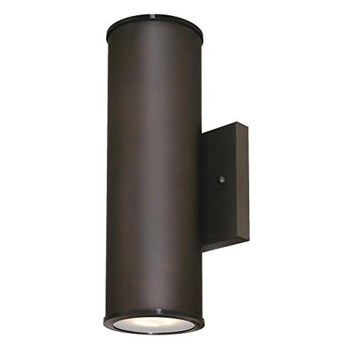 Westinghouse Lighting 6315700 Mayslick Two LED Up and Down Light Outdoor Wall Fixture, Oil Rubbed Bronze Finish with Frosted Glass Lens, Black