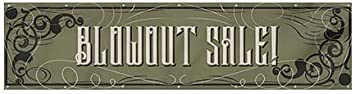 Blowout Sale CGSignLab Victorian Gothic Heavy-Duty Outdoor Vinyl Banner 12x3