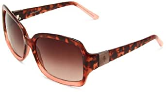 Cole Haan Women's C 6037 21 Square Sunglasses,Tort,Flora Fade Frame/Brown Gradient Lens,One Size