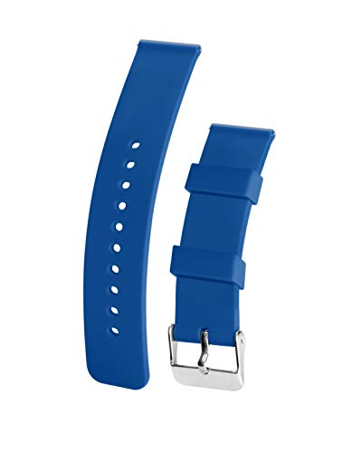 Silicone Watchband Strap,Quick Release,Soft Rubber Surface with Textured Non-Slip Back,Waterproof & Washable, Color & Size Variety, (18mm, Light Blue)
