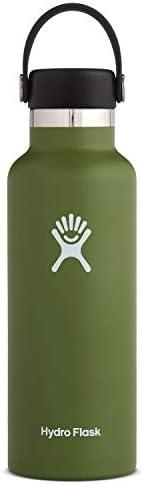 Hydro Flask Water Bottle - Standard Mouth Flex Lid - Multiple Sizes & Co