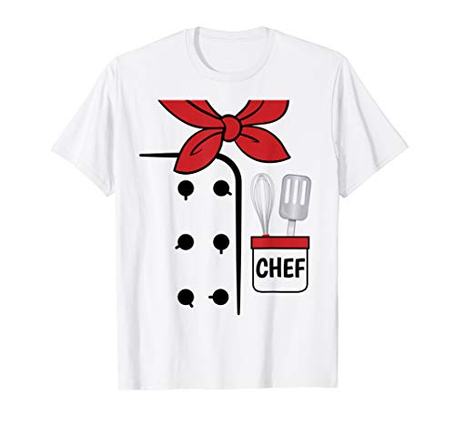 Cook Chef Coat Costume Funny Halloween Shirt Kids Adults