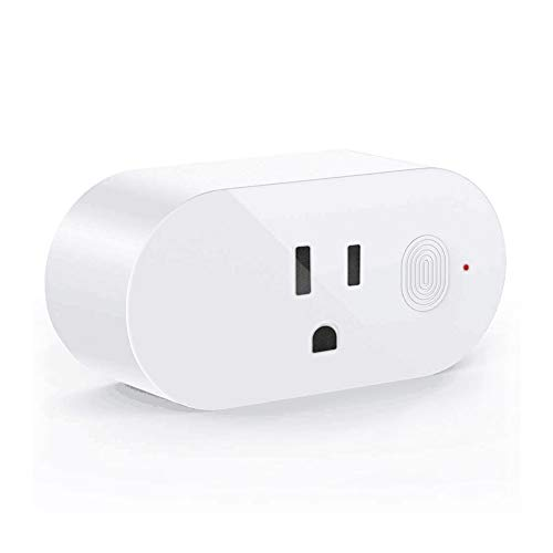 Wifi Smart Plug, Wi-Fi Smart Socket Outlet Compatible with Alexa and Google Home, Remote Control Your Home Appliances from Anywhere White (1 Pack)