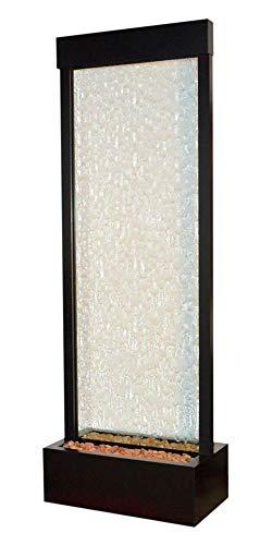 Bluworld Black Onyx Gardenfall w Clear Glass 8 - Gardenfall Fountain Outdoor Floor