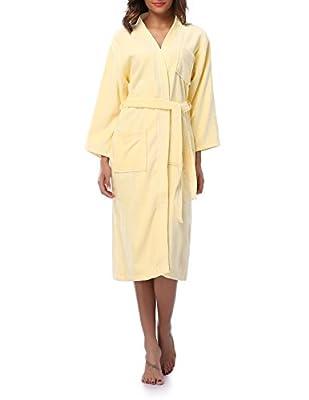 Kristin Fox Women's 100% Cotton Robe Turkish Kimono Bathrobe Soft Terry Cloth Long