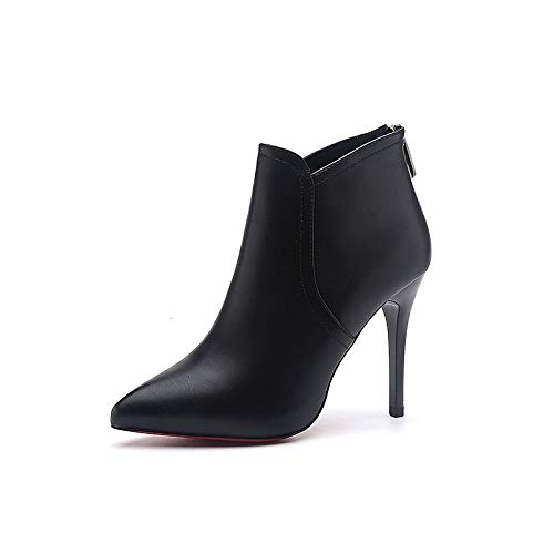 Black US6   EU36   UK4   CN36 Black US6   EU36   UK4   CN36 Women's Bootie PU Fall Boots Stiletto Heel Pointed Toe Black